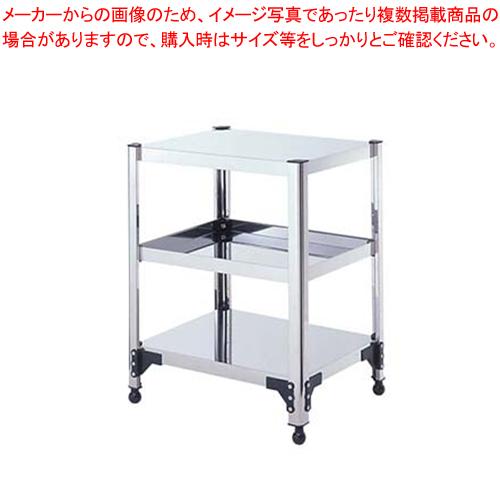 両面棚ワゴンアジャスター付 T9X-13 【ECJ】【サービスワゴン 食品運搬台車 】