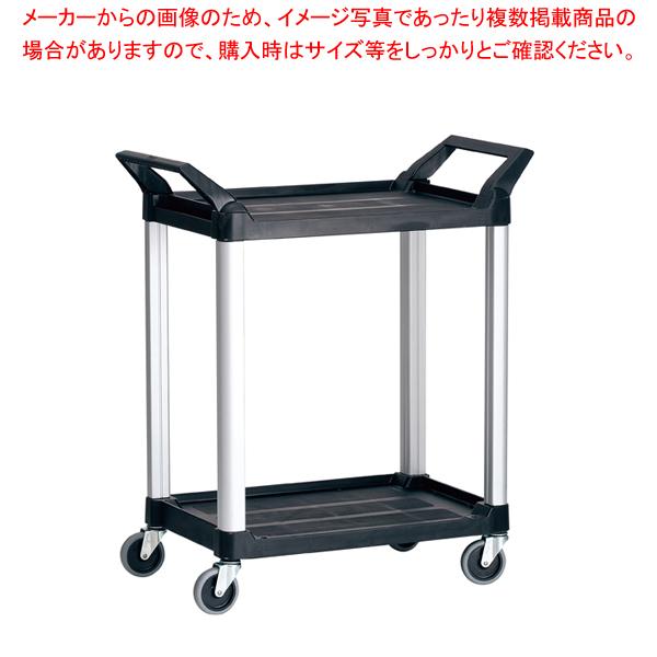 6-1107-0101 5-1027-0601 トラスト Hi5ユーティリティーカート S2段 4010 ブラック 【ECJ】
