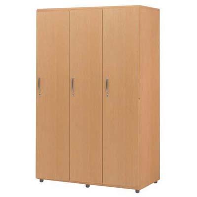 木製フリージョイントロッカー (ナチュラル) 1段3人用【ECJ】<br>【メーカー直送/代引不可】