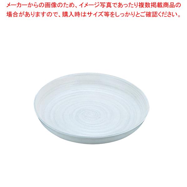 アルミ電磁用ドラ鉢 白刷毛目 尺2【ECJ】【厨房用品 調理器具 料理道具 小物 作業 】