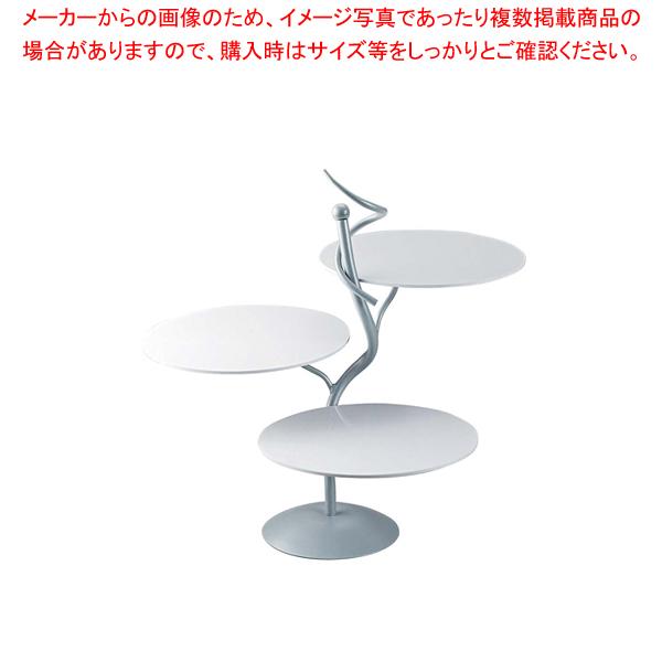 ML アイアンシェイプサービングスタンド Cod.402.01ホワイト【ECJ】【食器 トレー トレイ 盆 飾り台 ショープレート 】