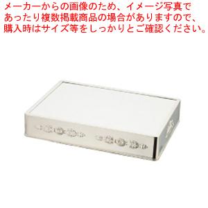 UK18-8角ミラープレート 菊模様 28インチ (アクリル)【ECJ】【ミラープレート ステンレス 】