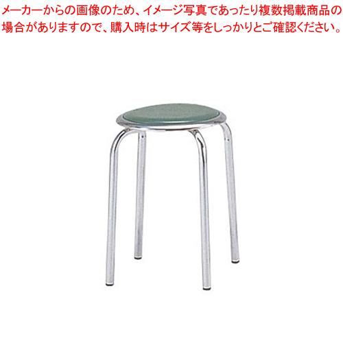 丸イス M-24M(10脚入) グリーン【ECJ】【家具 椅子 洋風丸いす 】