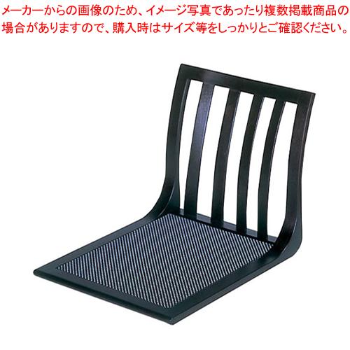座いす 4本格子 サペリ色 座スベリ止め付 R-18-02【 家具 座椅子 】 【ECJ】