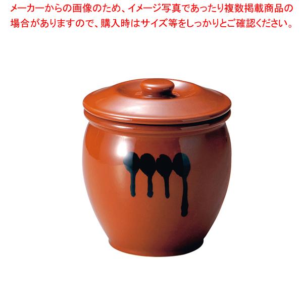 陶器 蓋付半胴かめ 10号 18.0L 【ECJ】