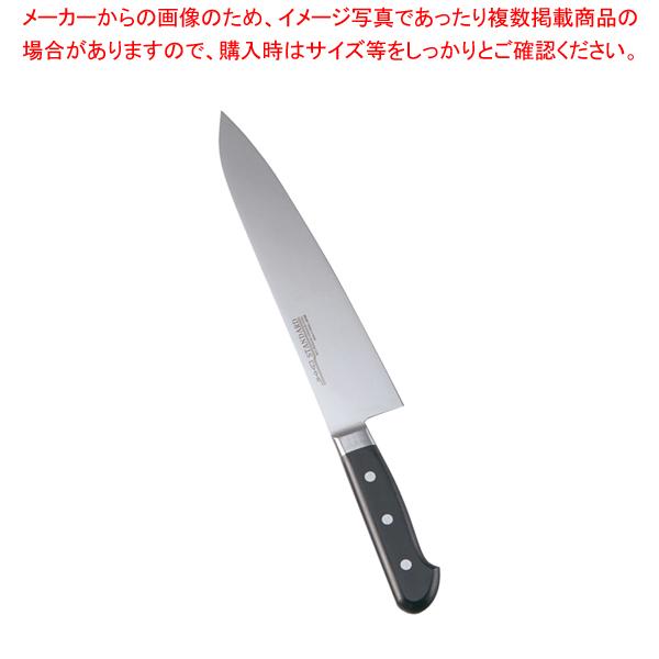 堺實光 STD抗菌PC 牛刀(両刃) 24cm 黒 51506 【ECJ】