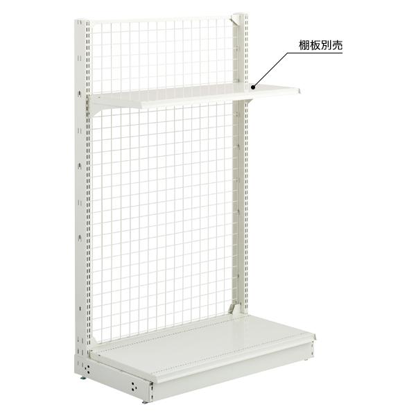 スチール什器 背面ネット W900×H2100(片面スタート)ホワイト 【ECJ】