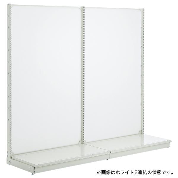 スチール什器 背面ボード W1200×H2100(片面コネクト)ホワイト 【ECJ】