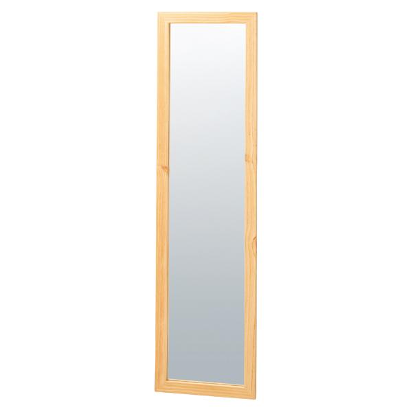 木製スリム立掛ミラー(鏡厚5mm)ナチュラル 【ECJ】