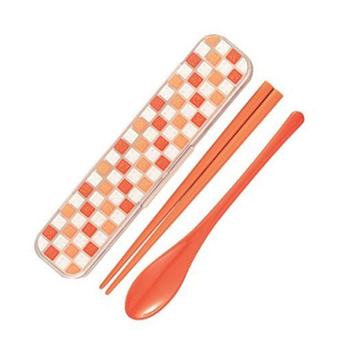 コンビセット パレット 箸・スプーン オレンジ