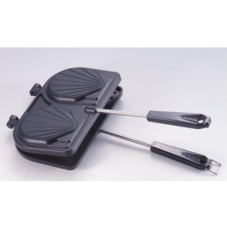 ホットサンドメーカー 貝型 ガス火専用 フッ素樹脂加工