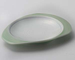 【まとめ買い10個セット品】和食器 ミ014-397 ヒワ見込白刺身皿 【キャンセル/返品不可】【ECJ】