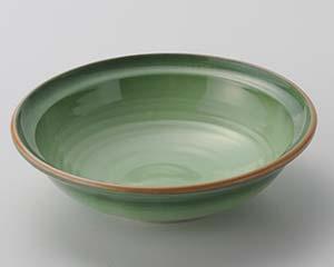 【まとめ買い10個セット品】和食器 ロ017-097 緑彩刺身鉢【キャンセル/返品不可】【ECJ】