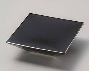 【まとめ買い10個セット品】和食器 カ022-147 ブラックスクエアー台皿【キャンセル/返品不可】【ECJ】