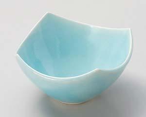 【まとめ買い10個セット品】和食器 ミ031-186 湖水青白四方小鉢 【キャンセル/返品不可】【ECJ】