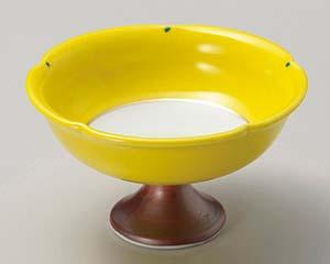 【まとめ買い10個セット品】和食器 タ049-136 黄釉馬上杯型仲付 【キャンセル/返品不可】【ECJ】