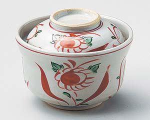 【まとめ買い10個セット品】和食器 ネ102-157 赤絵花鳥円菓子碗【キャンセル/返品不可】【ECJ】