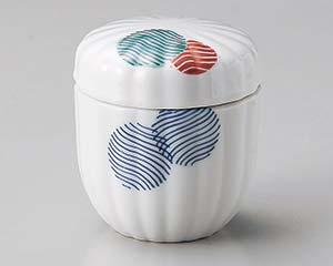【まとめ買い10個セット品】和食器 ミ105-306 江戸小紋菊型むし碗 【キャンセル/返品不可】【ECJ】