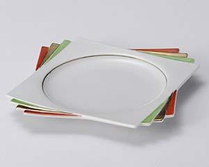 【まとめ買い10個セット品】和食器 ト113-186 上絵三色折角天皿 【キャンセル/返品不可】【ECJ】