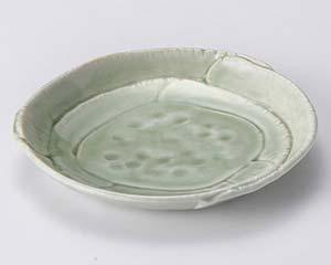 【まとめ買い10個セット品】和食器 ト115-067 灰釉タタラ天皿【キャンセル/返品不可】【ECJ】