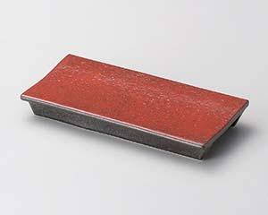 【まとめ買い10個セット品】和食器 ツ121-097 紅黒炭 レール(小)【キャンセル/返品不可】【ECJ】