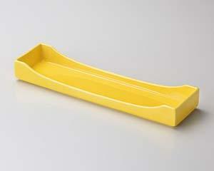 【まとめ買い10個セット品】和食器 ト129-057 黄釉 切立前菜皿【キャンセル/返品不可】【ECJ】