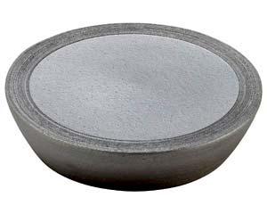 【まとめ買い10個セット品】和食器 メ166-107 黒窯変櫛目10.0台皿【キャンセル/返品不可】【ECJ】