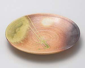 【まとめ買い10個セット品】和食器 メ169-106 古信楽9.0丸皿 【キャンセル/返品不可】【ECJ】