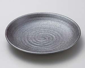 【まとめ買い10個セット品】和食器 ホ171-016 赤銀彩尺皿 【キャンセル/返品不可】【ECJ】