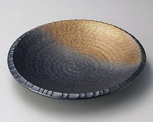 和食器 タ171-136 黒備前尺深皿