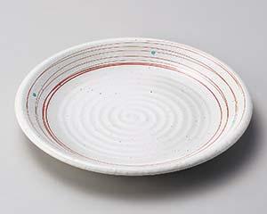 【まとめ買い10個セット品】和食器 テ174-237 粉引乱線7.0皿【キャンセル/返品不可】【ECJ】