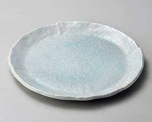 【まとめ買い10個セット品】和食器 ロ175-027 青白釉7.0丸皿【キャンセル/返品不可】【ECJ】