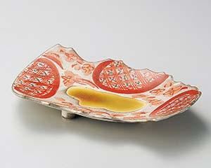 【まとめ買い10個セット品】和食器 オ194-077 赤絵花ちらしちぎり和皿【キャンセル/返品不可】【ECJ】