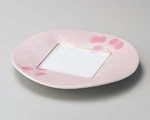 【まとめ買い10個セット品】和食器 ミ195-017 ピンク吹銀彩80皿【キャンセル/返品不可】【ECJ】