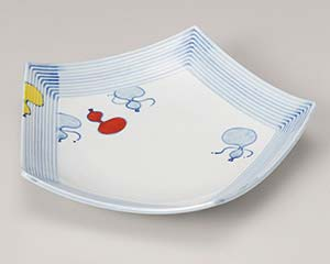 【まとめ買い10個セット品】和食器 ミ195-147 赤絵瓢五角 盛皿【キャンセル/返品不可】【ECJ】