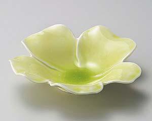 【まとめ買い10個セット品】和食器 ツ197-157 花型ヒワ釉深皿 【キャンセル/返品不可】【ECJ】