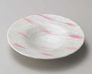 【まとめ買い10個セット品】和食器 ミ198-056 ピンク一珍帽子型和皿 【キャンセル/返品不可】【ECJ】
