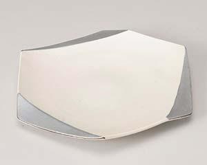 【まとめ買い10個セット品】和食器 ミ198-176 銀彩白吹六角皿 【キャンセル/返品不可】【ECJ】