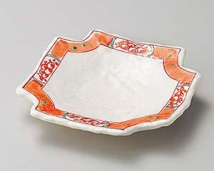 【まとめ買い10個セット品】和食器 オ198-206 赤絵四ツ切皿 【キャンセル/返品不可】【ECJ】