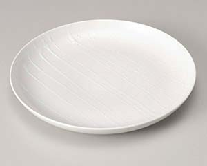 【まとめ買い10個セット品】和食器 ホ201-076 白アラブキ27cm深丸皿 【キャンセル/返品不可】【ECJ】