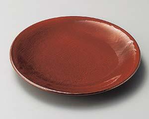 【まとめ買い10個セット品】和食器 ロ203-057 紅結晶8.0丸皿 【キャンセル/返品不可】【ECJ】