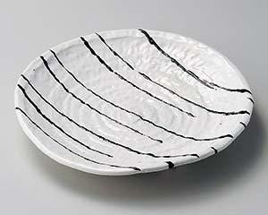 【まとめ買い10個セット品】和食器 イ203-167 白一珍厚口三つ足22cm皿【キャンセル/返品不可】【ECJ】