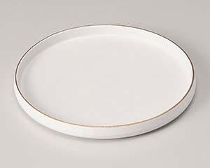 【まとめ買い10個セット品】和食器 カ206-047 渕金白マット切立皿(小)【キャンセル/返品不可】【ECJ】