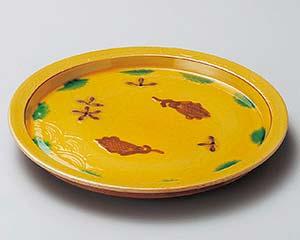 【まとめ買い10個セット品】和食器 ミ208-017 交趾双魚和皿【キャンセル/返品不可】【ECJ】