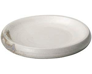 【まとめ買い10個セット品】和食器 メ233-037 灰釉粉引12.3台皿【キャンセル/返品不可】【ECJ】