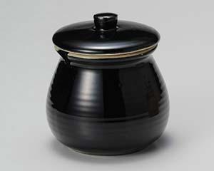 【まとめ買い10個セット品】和食器 イ294-107 黒釉口切蓋物 3号【キャンセル/返品不可】【ECJ】