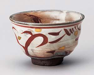 【まとめ買い10個セット品】和食器 ユ354-246 赤絵波茶碗 【キャンセル/返品不可】【ECJ】