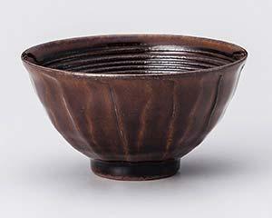 【まとめ買い10個セット品】和食器 ユ355-017 アメ釉茶碗【キャンセル/返品不可】【ECJ】