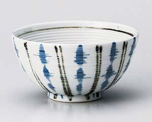 【まとめ買い10個セット品】和食器 ユ360-076 霞十草(藍)茶碗 【キャンセル/返品不可】【ECJ】