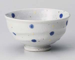 【まとめ買い10個セット品】和食器 テ360-277 紺水玉手造茶碗【キャンセル/返品不可】【ECJ】